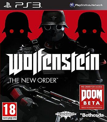 Sony PS3 PlayStation 3 - Wolfenstein : The New Order *NEW*