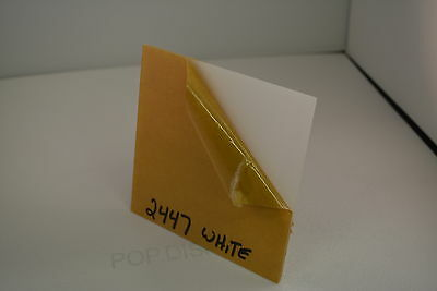 """POPDISPLAYS  COLOR SAMPLE   OF COLOR #2447 WHITE   1/8"""" x 1.5."""" x 1.5"""""""