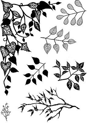CARD-IO A6 COMBINATIONS COLLECTION Clear Stamps GREENERY 1 CCSTGRE-01 7 Stamps