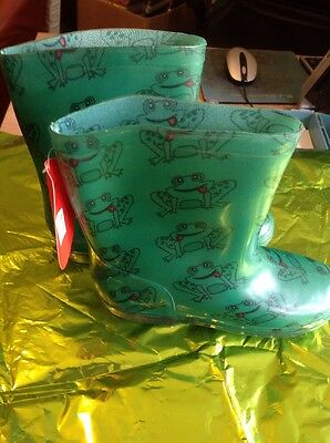 Children's Wellies Frog Size 1.. NEW shop Clearance