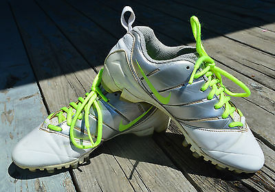Nike Speedlax 3 Women's Lacrosse Athletic Cleats Sliver & Neon Green - Size 8
