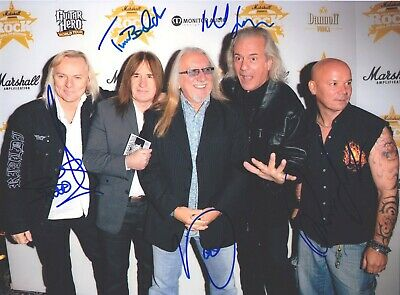 Uriah Heep Trevor Bolder Rare Amazing In Person Signed W/proof Coa !!