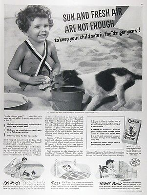 1936 CREAM OF WHEAT CEREAL Genuine Vintage Advertisement ~ RARE CDN AD