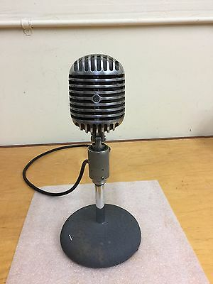 1940's Shure Brothers 55 B Fatboy dynamic microphone Elvis mic atlas 763 stand