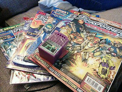 Transformers Armada Panini magzines issue 1-6 all mint unread with gifts sealed