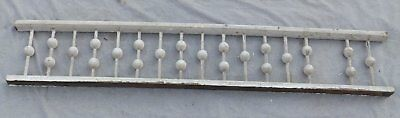"Antique 59"" Wood Porch Span Stick Ball Spindles Old Vtg Gingerbread 1987-16"