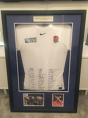 TOTALLY ONE OF GENUINE ENGLAND 2011 Signed RUGBY WORLD CUP Shirt WITH COA - WOW