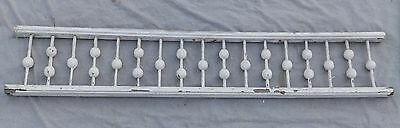 "Antique 59"" Wood Porch Span Stick Ball Spindles Old Vtg Gingerbread 1988-16"