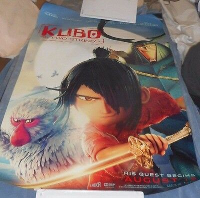 "New! KUBO AND THE TWO STRINGS 2016 Double Sided Advance 27"" x 40"" Rolled Mint"