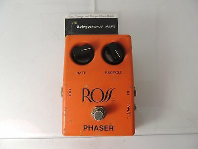 Vintage Ross Phaser Effects Pedal Phase Shifter  Free Shipping