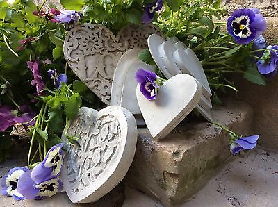 Five Unique Beautiful Stone Wall Plaque Hearts  . From The Designer Sius.