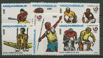 Mocambique 1988 Olympiade Seoul 1113/18 postfrisch