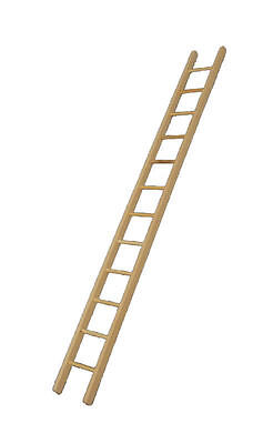Ladder Dolls House Miniatures, Miniature Ladder Length Approx 330mm. 1.12 Scale