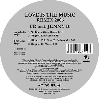 FR FEAT. JENNY B. - Love Is The Music - Remix 2006