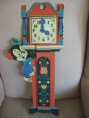 Vintage 1949 Hickory Dickory Mouse Child Nursery Rhyme Growth Measure Chart