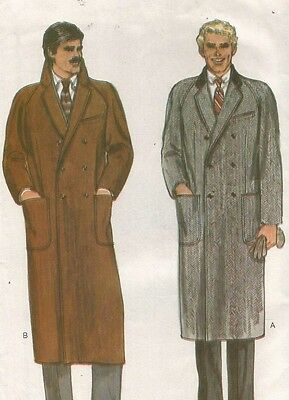 7467 Vogue Sewing Pattern Mens Double Breasted Coat Size 40 Vintage