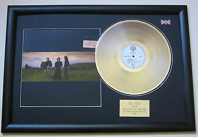 BEE GEES E.S.P PLATINUM LP DISC with cover Presentation