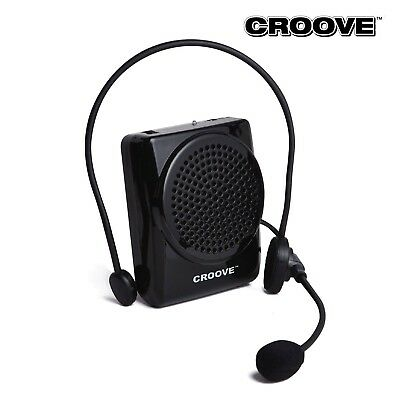 Refurbished Croove Rechargeable Voice Amplifier,with Waist/Neck Band & Belt Clip