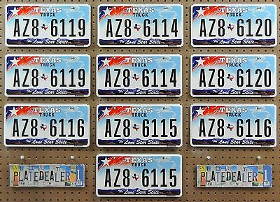 10 TEXAS Light LS Flat Truck Pairs License Plates Tags Signs Man Cave LOT 119