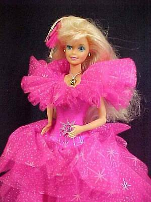 Barbie Doll ~❤️~ 1990 Happy Holiday Doll Pink Gown & Stand D-44