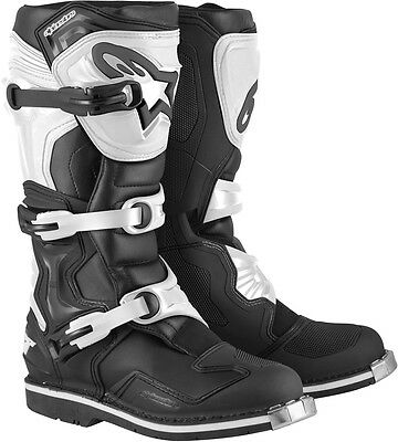 Alpinestars Tech 1 motocross offroad ATV dirtbike boots Blk White Size 9 US