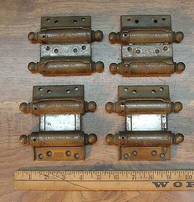 "4 Chicago Triplex Double Acting Steel Hinges,3"", Two Operational,2 Free Wheeling"