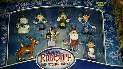 Rudolph Red-Nosed Reindeer Elves Holiday Clip On Key Rings Chains memory lane