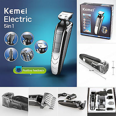 Electric 5 in1 Men's Beard Hair Cut Shaver Razor Trimmer Clipper Groomer Removal
