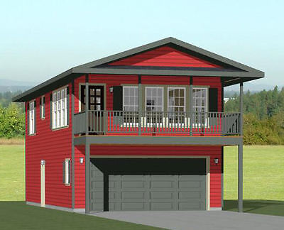 20x40 House -- 1 Bedroom 1.5 Bath -- 965 sq ft -- PDF Floor Plan -- Model 7G