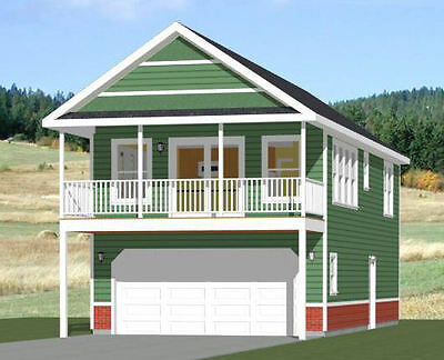 20x40 House -- 1 Bedroom 1.5 Bath -- 965 sq ft -- PDF Floor Plan -- Model 6K