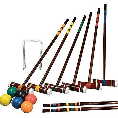 Six Player Franklin Sports Croquet Set with Traditional Carry Bag for transport