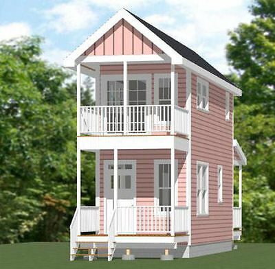 10x28 Tiny House -- 475 sq ft -- PDF Floor Plan -- Model 3