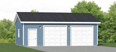 30x24 2-Car Garage -- 720 sqft -- PDF Floor Plan -- Model 1