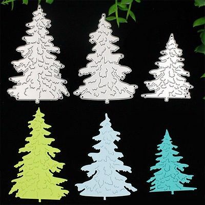 3 X Christmas Tree Cutting Dies Stencils DIY Scrapbooking Album Diary HandCrafts