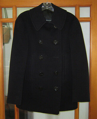 WWII US Naval Clothing Factory Pea Coat Named