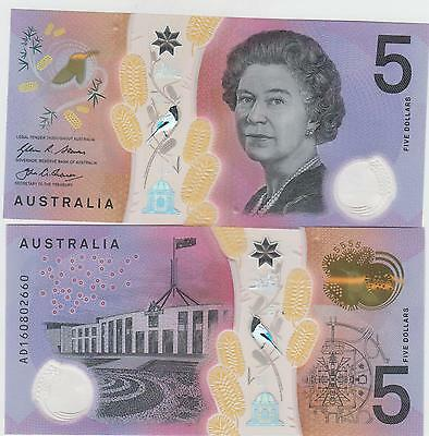 Australia Paper Money $5 Just issued  unc   great looking notes   one note