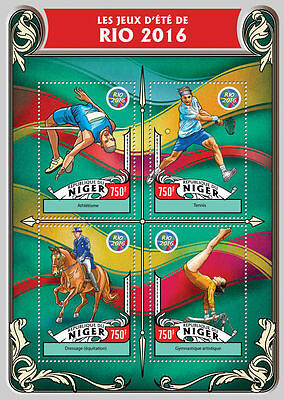 NIGER 2016 ** Tennis Olympia Rio M/S #319a