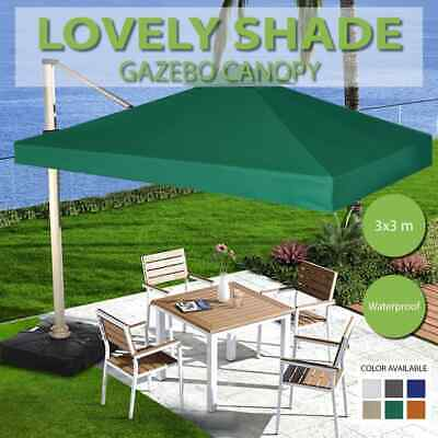 3x3m 6 Colours Selectable Gazebo Cover Top Canopy Roof Replacement Shade Marquee