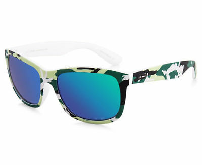 Dot Dash Poseur Jungle Camo with Green Chrome Lens Men's Sunglasses New