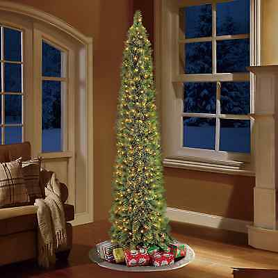 Pre-Lit 7' Green Shelton Artificial Christmas Tree, Clear Lights