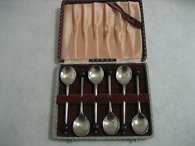 Set of 6 Vintage Silver Plated Yeoman Plate Coffee Spoons