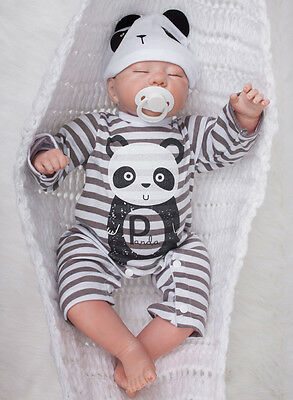 "Lovely Handmade 20"" Realing Look Full Body Silicone Reborn Baby Doll Toy Boy New"