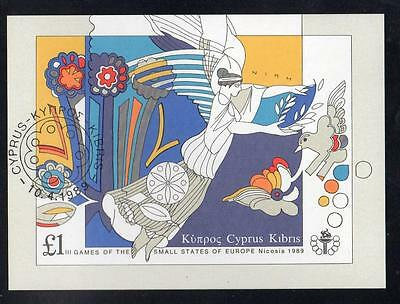 Cyprus Fine Used 1989 The 3rd Games of Small European States - Nicosia  M/S