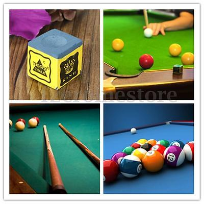 4/12/24 PCS Tournament Cubes Billiard Table Chalk Pool Snooker Cue Tip Blue King