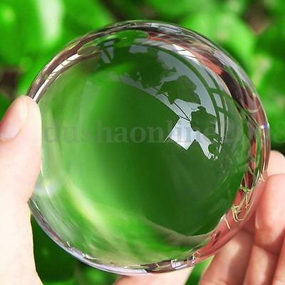 80/100/110mm Boule De Cristal Artificiel Asiatique Transparent Sphère Magique