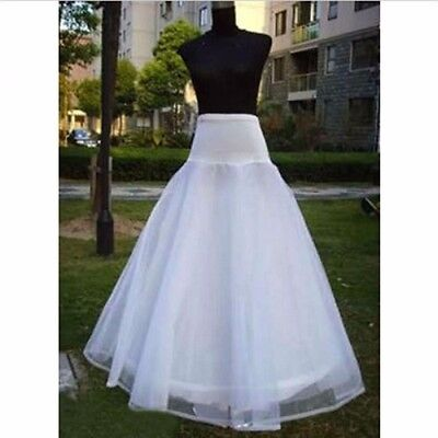 1 Hoop 3 Layer White Wedding Bridal Gown Dress Underskirt Petticoat