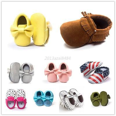 997edece5f5 Baby Soft Sole Crib Suede Boots Kid Shoes Infant Boy Girl Toddler Moccasin  0-18M