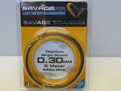 5 meters of 44lb TITANIUM SINGLE STRAND PIKE TRACE WIRE 0.30mm from savage gear