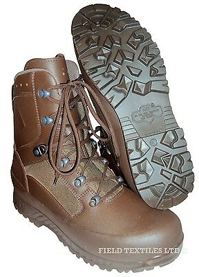 British Army - Haix Combat Liability Brown Boots - Size 10 Wide - New In Box