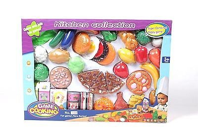 40 Pieces Pretend Play Kids Childrens Kitchen Food Cooking Set